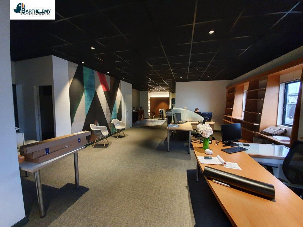 Création faux-plafond suspendu par l'entreprise Barthélémy Pau