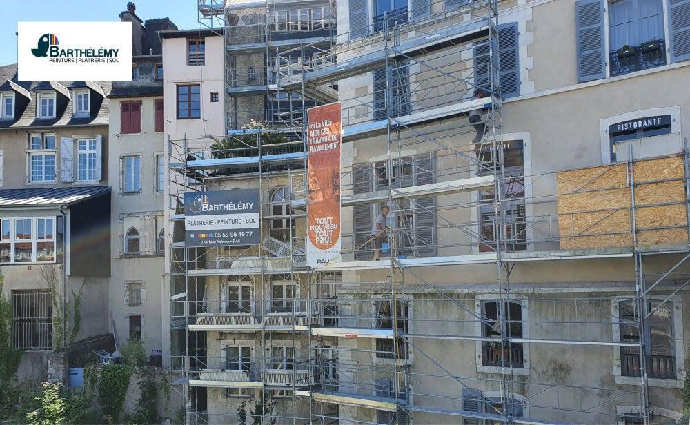 Ravalement de façade. Entreprise de ravalement de façade Pau
