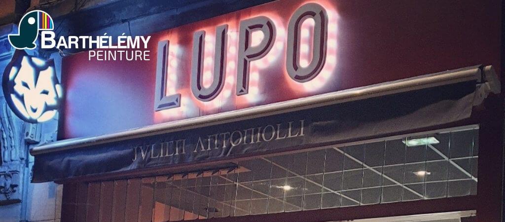 Plâtrerie, sol et peinture : Pizzeria LUPO à Pau par l'entreprise Barthélémy