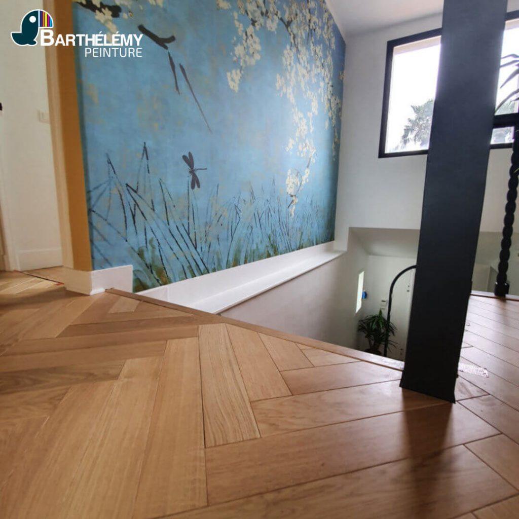Réalisation d'une maison à Pau par les peintres de l'entreprise Barthélémy